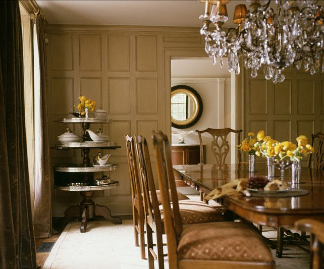 Elegant Classic Dining Room Interior Design Ideas Crystal Chandelier. #Interiordesign