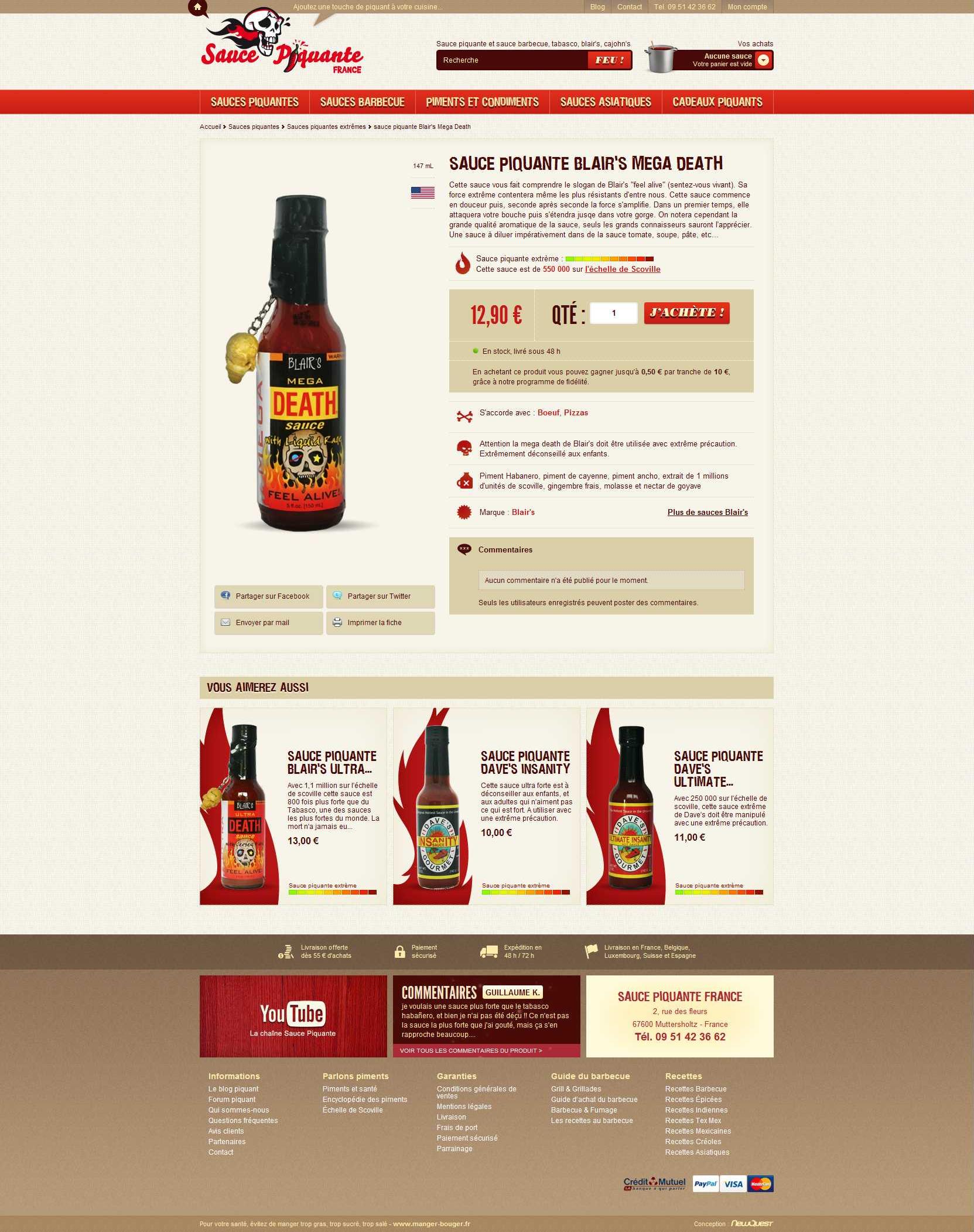 4d1d45d42d50cf www.sauce-piquante by NewQuest   Prestashop - NewQuest Showcase ...