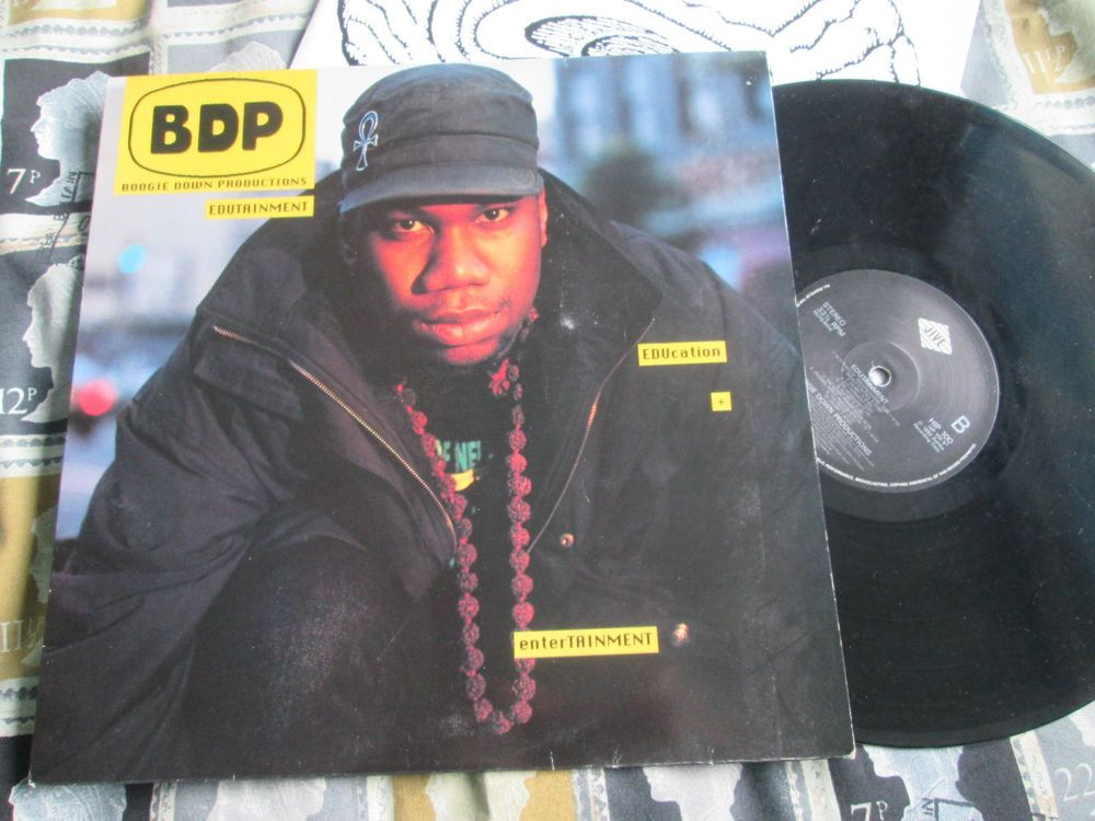 Boogie Down Productions ‎– Edutainment Jive ‎– HIP 100 UK Vinyl LP Album