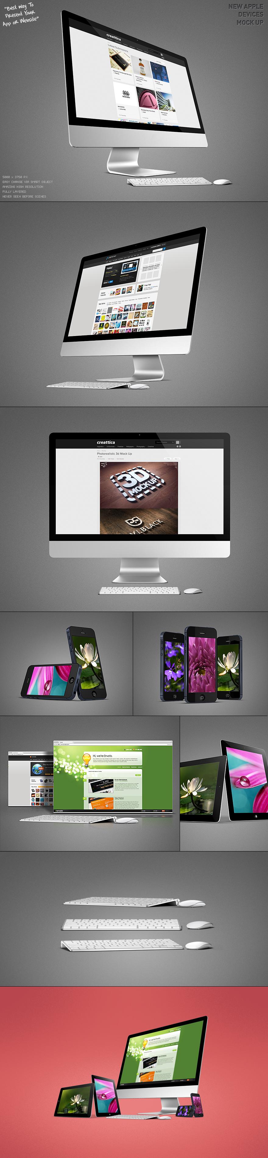 Free New iMac and iPhone5 Mock UP - PSD Files - Creattica | MOCKUPS ...