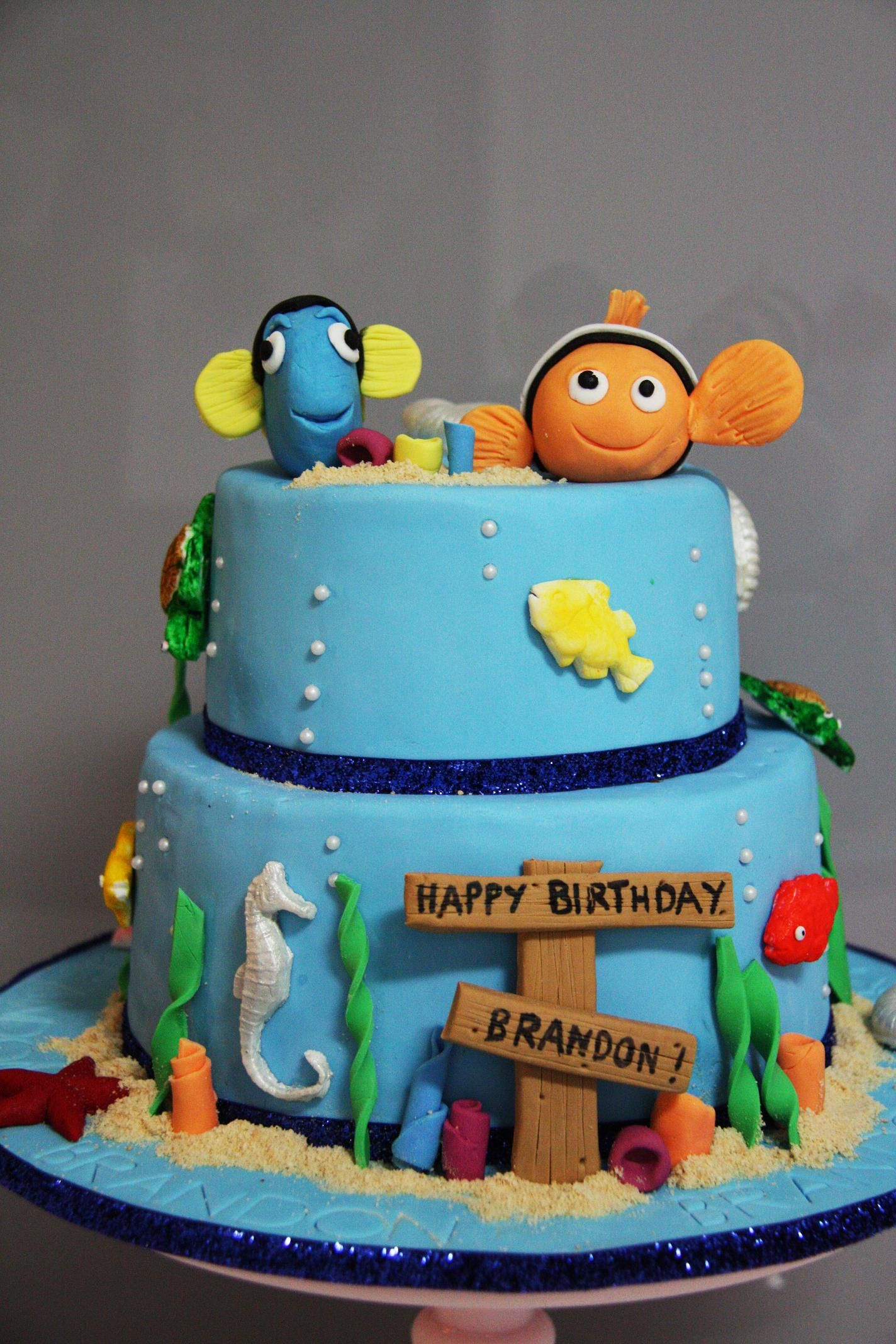 Nemo Cake Cakes Pinterest Nemo Cake Cake And Fondant - Nemo fish birthday cake