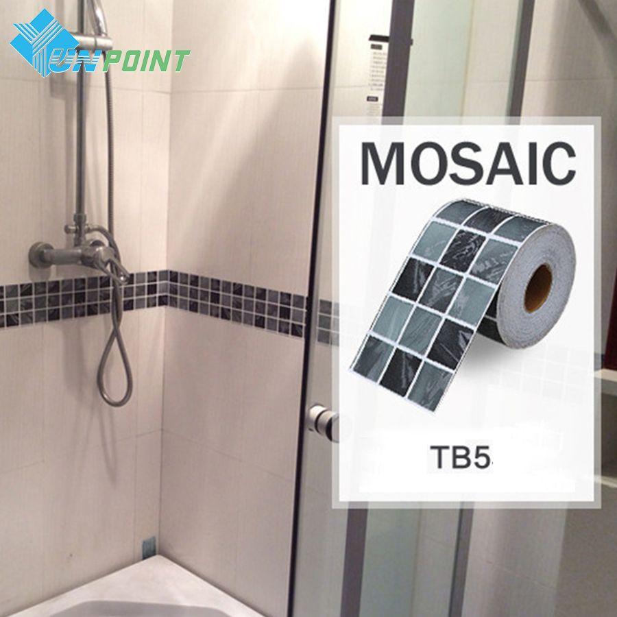 Classical mosaic stickers vinyl waterproof waistline self ...