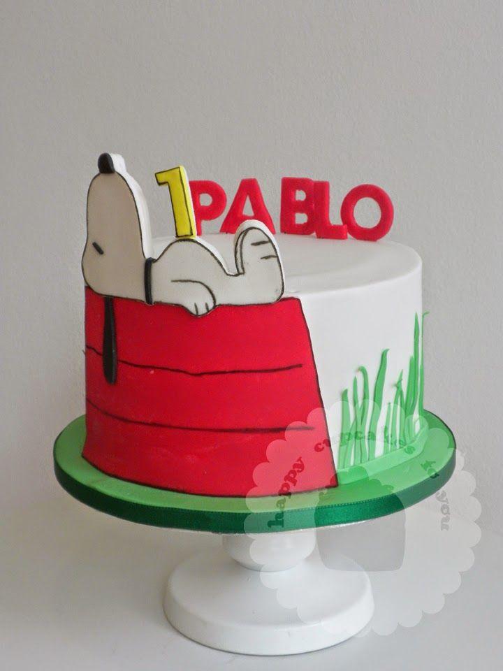 Snoopy cake surprise snoopy party Pinterest Snoopy cake