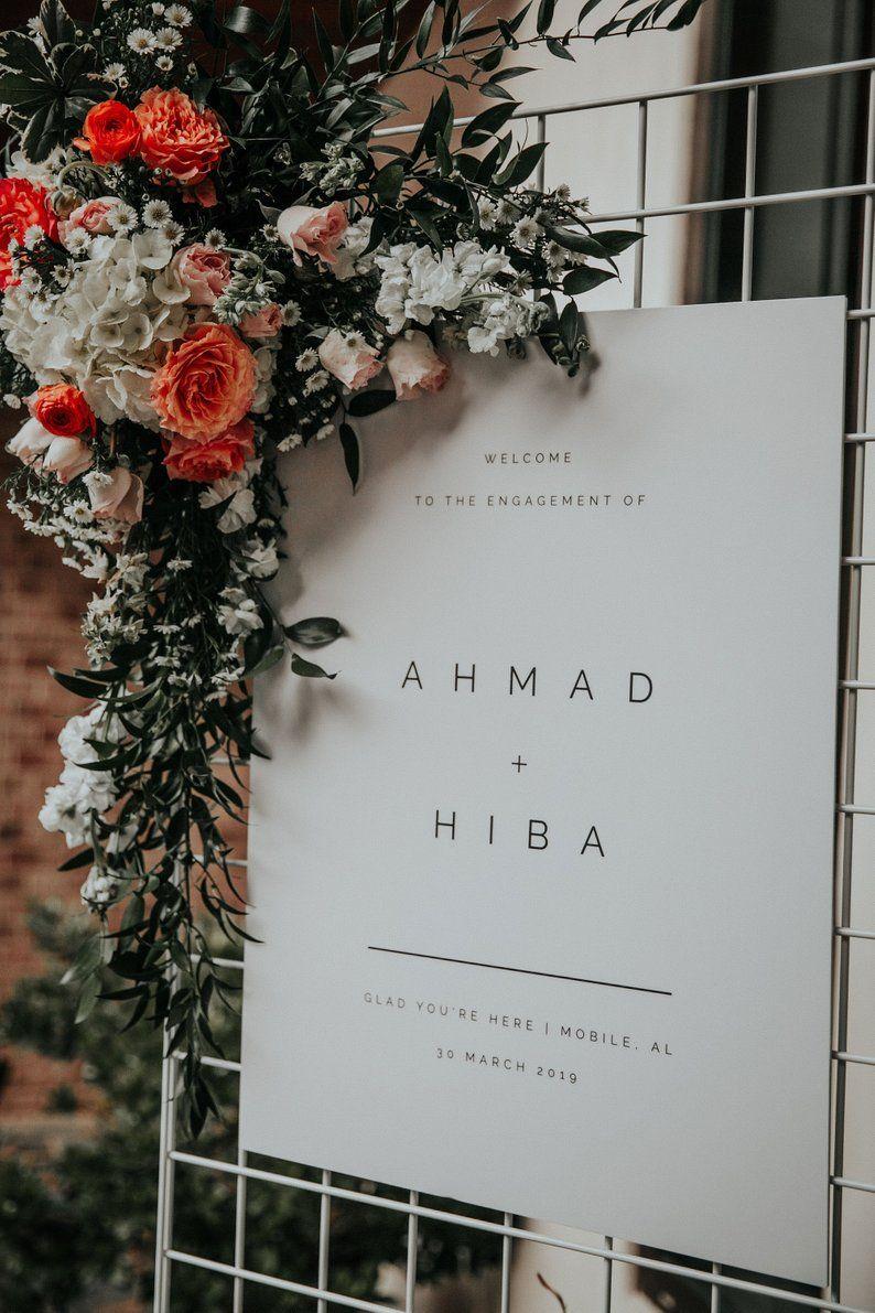 Photo of Hochzeits-Willkommensschild | Moderne Hochzeitsvorlage | Willkommen zu …