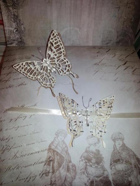 Schmetterling Einladungen Einladung Einladungskarte Hochzeit Wedding  Invitationshabby Chic Vintage Edel Elegant Geburtstag Kommunion Taufe  Preis: 2,70