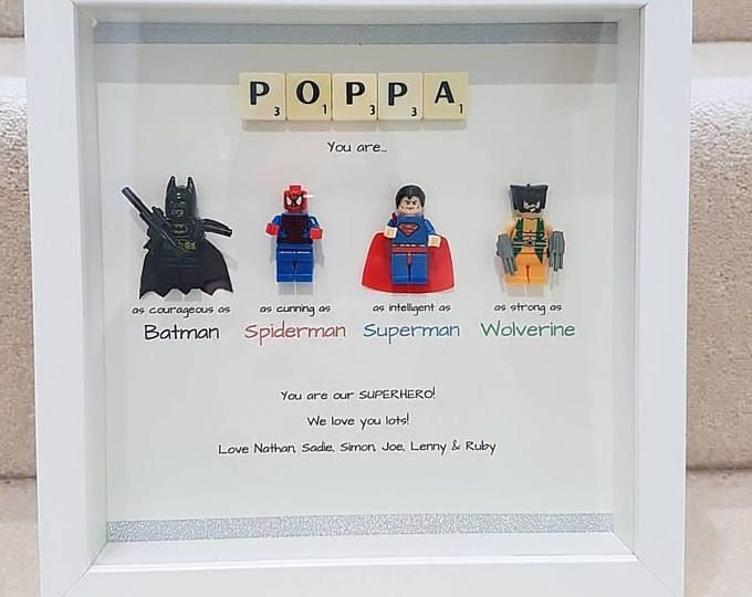 daddy superhero superhero dad marvel fathers day gift lego special dad birthday present. Black Bedroom Furniture Sets. Home Design Ideas