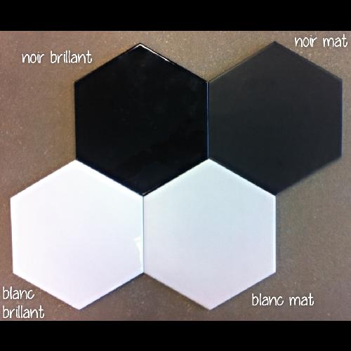 Carrelage Hexagonal 17 5x20 Tomette Design 1m Blanc Mat 1m