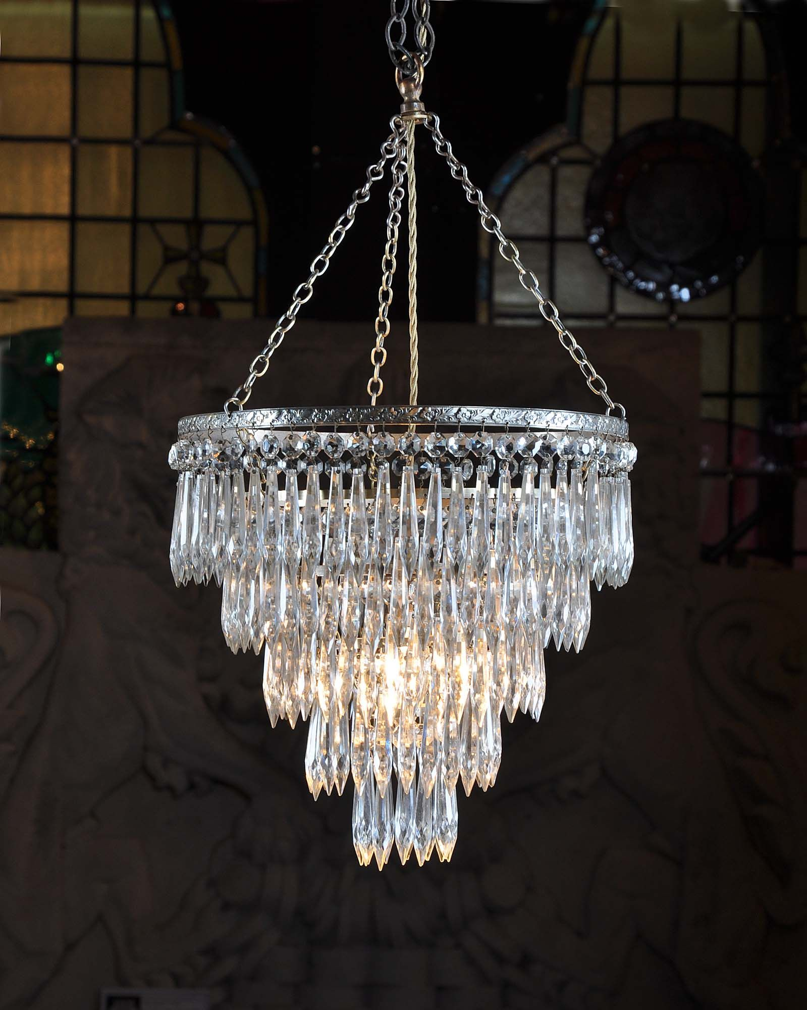 Small antique cut glass chandelier antique chandeliers pinterest small antique cut glass chandelier aloadofball Gallery