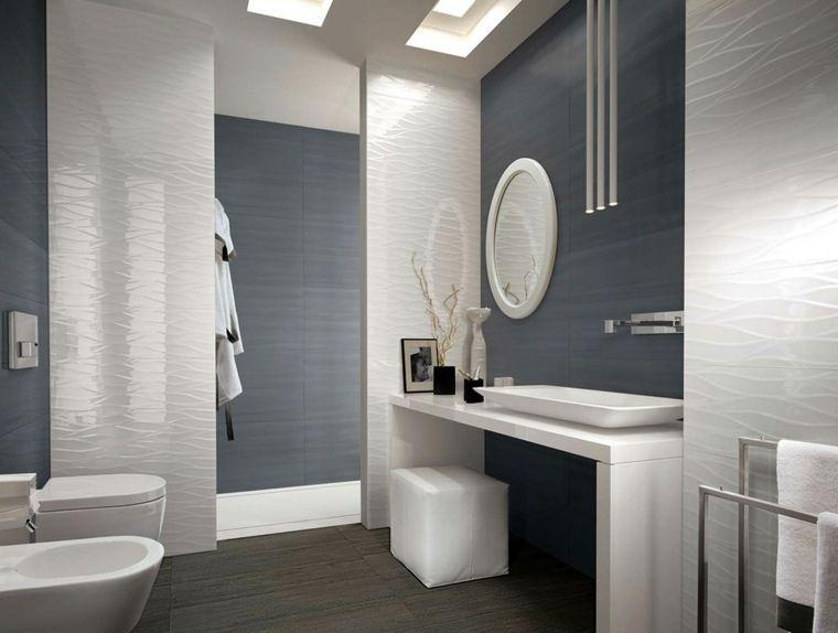 Idée carrelage salle de bain du0027inspiration design - salle de bain carrelage gris et blanc