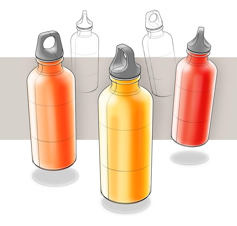 Sketches On Behance Diseno De Botella Disenos De Unas Dibujos De Agua