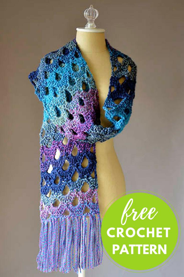 Zeppelin Scarf Free Crochet Pattern | Pinterest | Zeppelin, Free ...