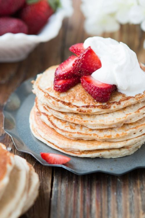 Skinny Strawberry Shortcake Gluten Free Pancakes Really nice  Mein Blog: Alles rund um die Themen Genuss & Geschmack  Kochen Backen Braten Vorspeisen Hauptgerichte und Desserts # Hashtag