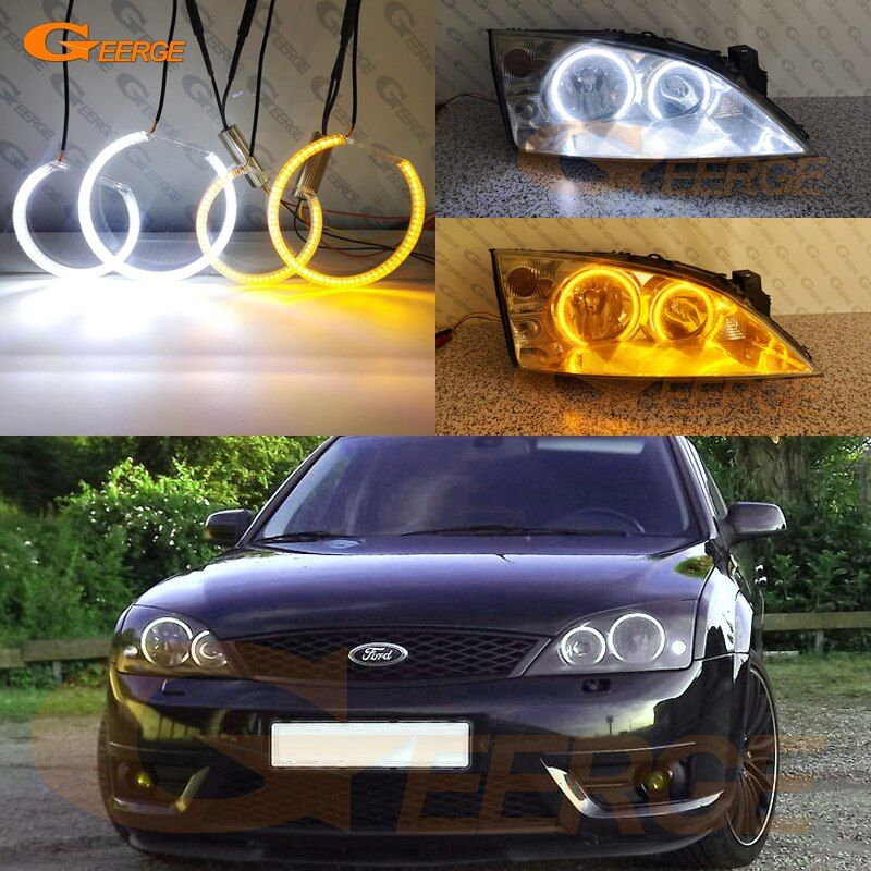 Cheap Car Light Assembly Buy Quality Automobiles Motorcycles Directly From China Suppliers Ultra Bright Dual Color Swi Led Angel Eyes Ford Mondeo Car Lights