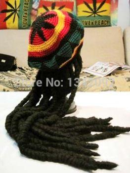 Moda Punk de punto Jamaica Rasta sombrero con Dreadlocks peluca jamaicano  disfraz de Halloween Skullies Beanie Cap ventas al por mayor 1046c91c8a8