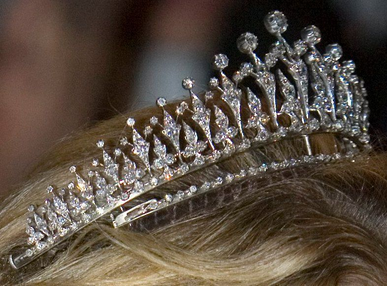 This more delicate fringe tiara was a 10th wedding anniversary gift