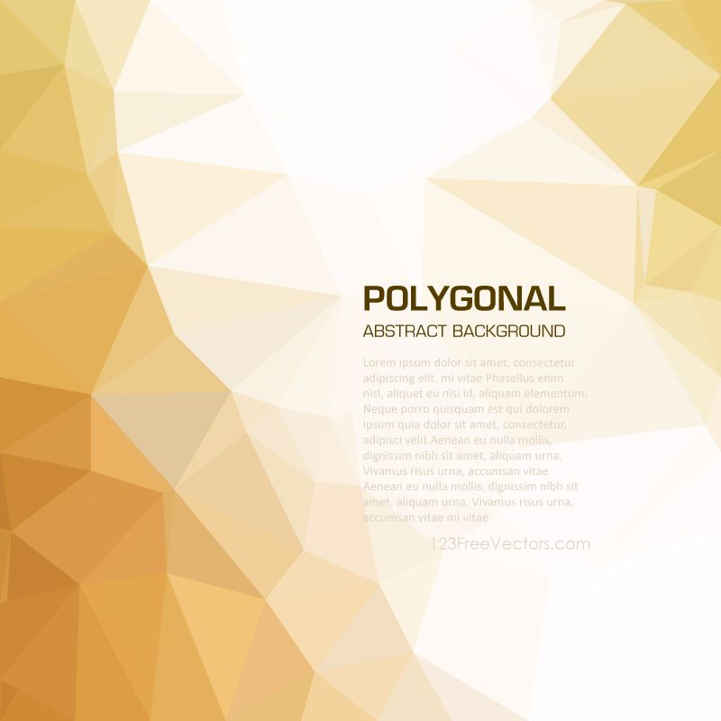 Light Gold Abstract Low Poly Background Vector Abstract Gold