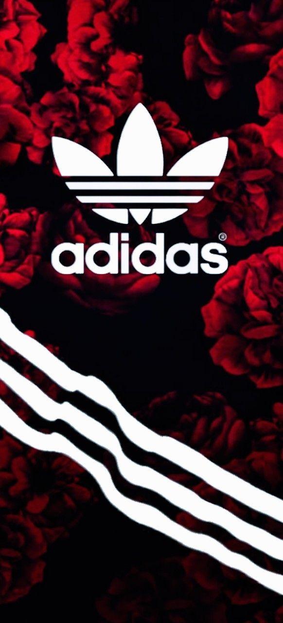 Red Adidas PRO LoGo | Hintergrund iphone, Blumen ...