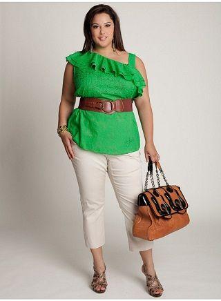 63a2ff2a2cac Modelos de conjuntos de vestir para gorditas | Moda | Moda para ...