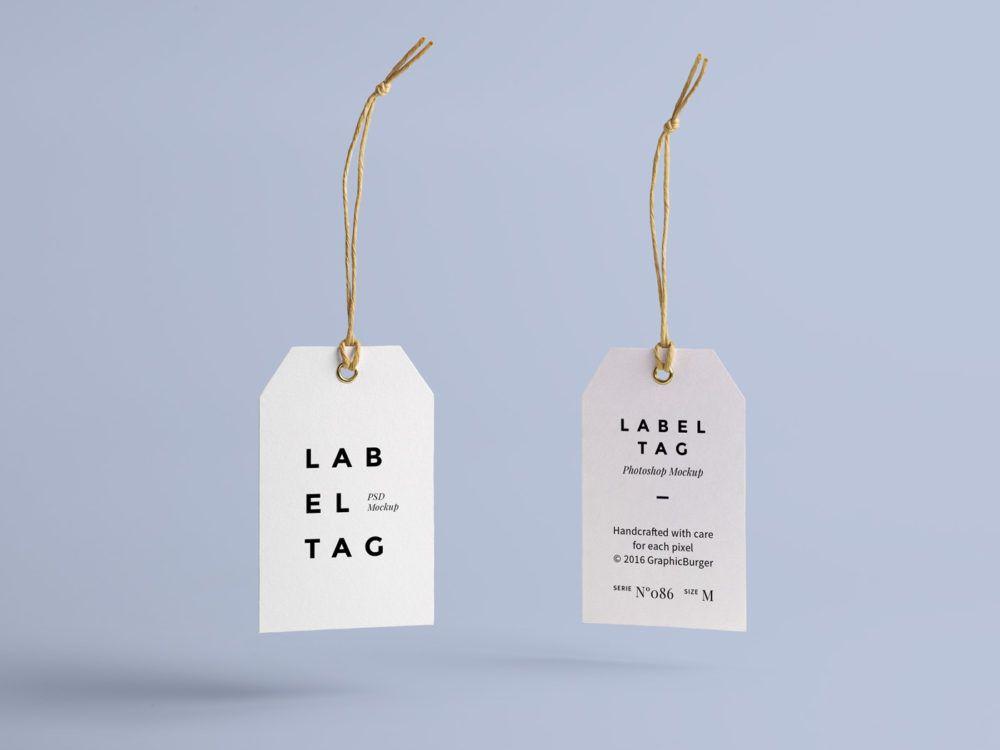Label Tag Mock Up Free Mockup Label Tag Tag Design Mockup Free Psd