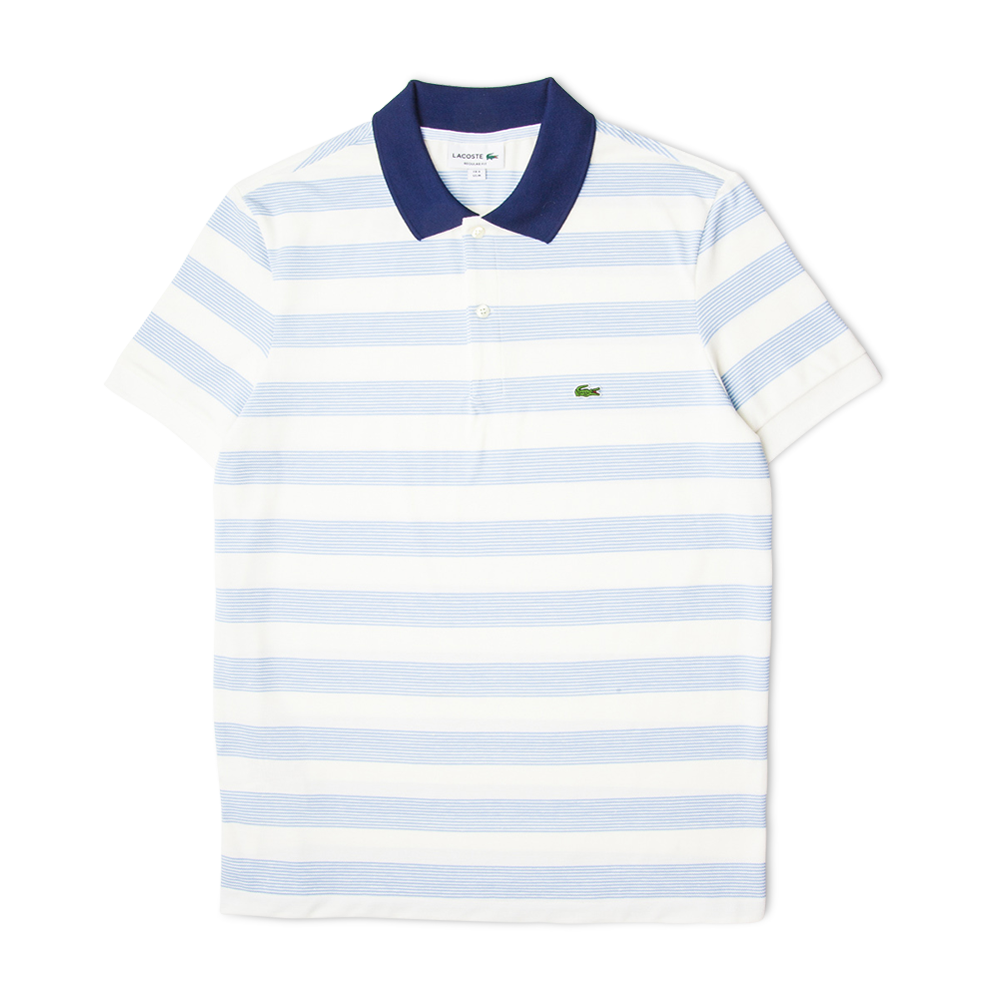 69103a881 Lacoste Striped Cotton Piqué Polo Shirt White Blue Free SHIPPING OVER  £50.00  1856  grants1856  grants
