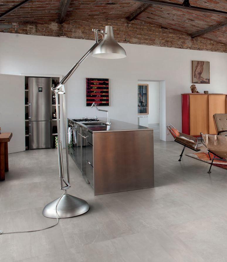 Provenza #Gesso Pearl Grey 40x80 cm 483x8R #Feinsteinzeug - pvc fliesen küche