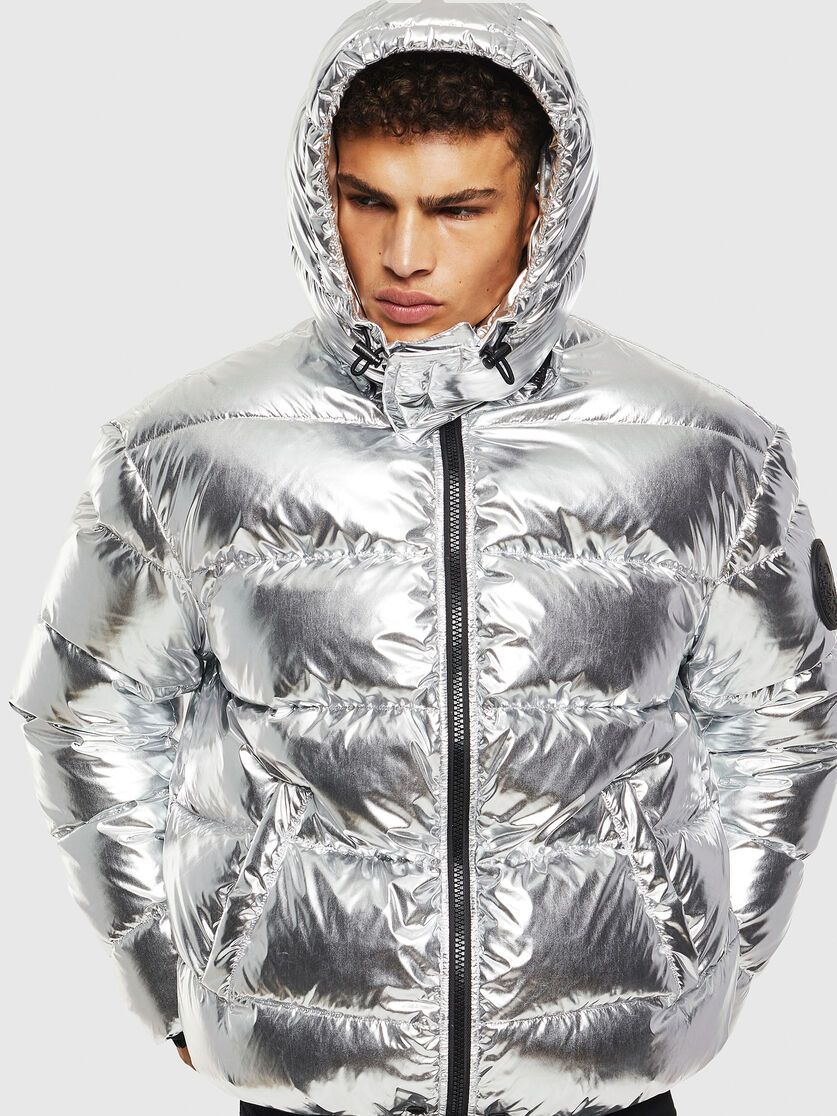 W Smith Silver Silver Winter Jackets Silver Puffer Jacket Jackets [ 1116 x 837 Pixel ]