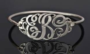 91% Off a Monogram Bangle with Clasp