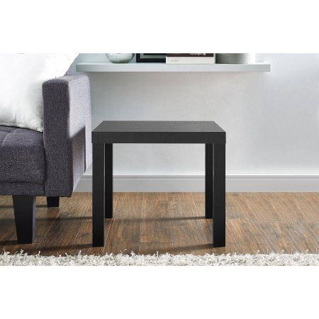 Mainstays Parsons Square End Table Black Walmart Com Contemporary Living Room Furniture Modern Table Design End Tables