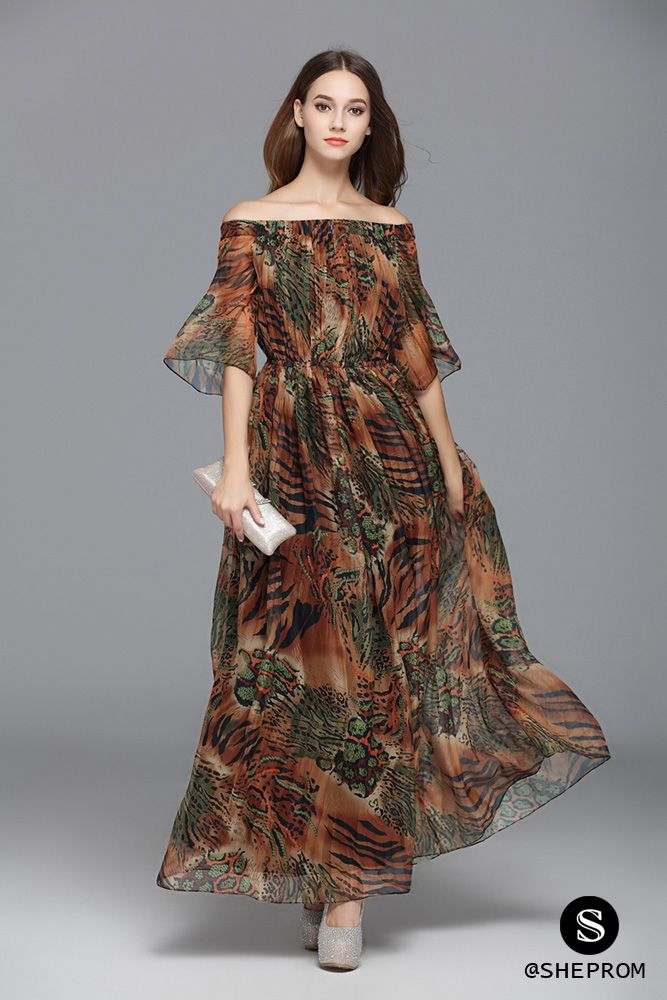 bd9734f104 Unique animal print off shoulder party dress.   Click to view more. Choose  from 1500+ formal dresses at SheProm.com! Cheap with free shipping.