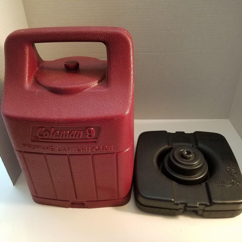 Coleman Propane Lantern Hard Shell Plastic Case Burgundy Color 15