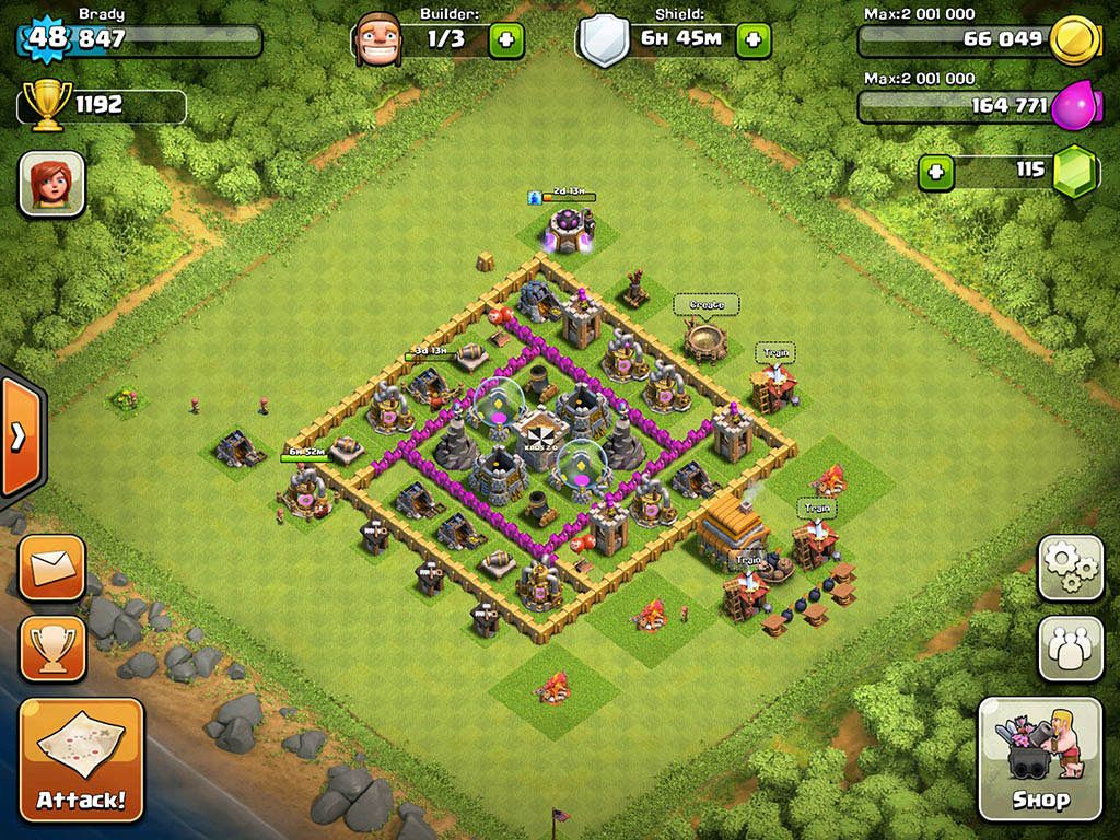 Clash Of Clans Base Designs Town Hall Level 6 1337 Wiki Town Hall 6 Clash Of Clans Town Hall