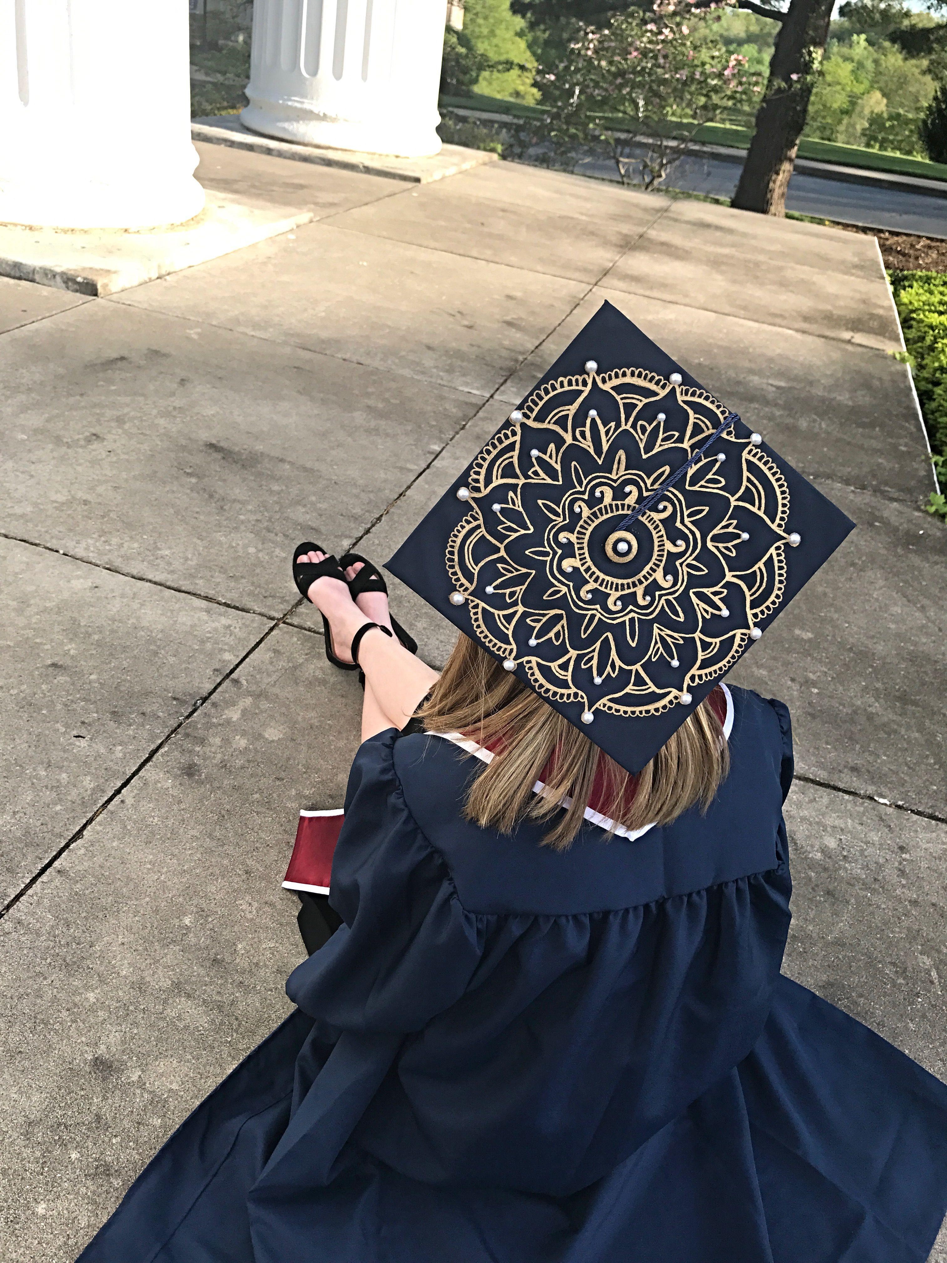 Grad Cap Lotus Mandala 2017 Grad Cap Graduation Cap Tassel