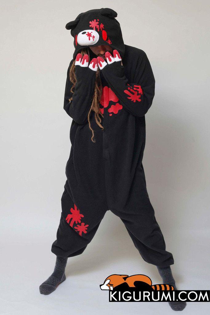 Black Gloomy Bear Onesie Kigurumi Character Costume Adult Pajamas ... a9fdb966c76fa
