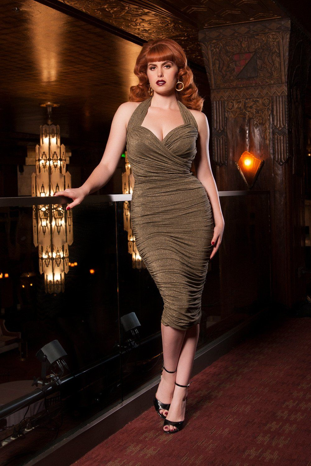 Traci Lords Traci Dress in Gold Lurex for Couture for Every Body ...