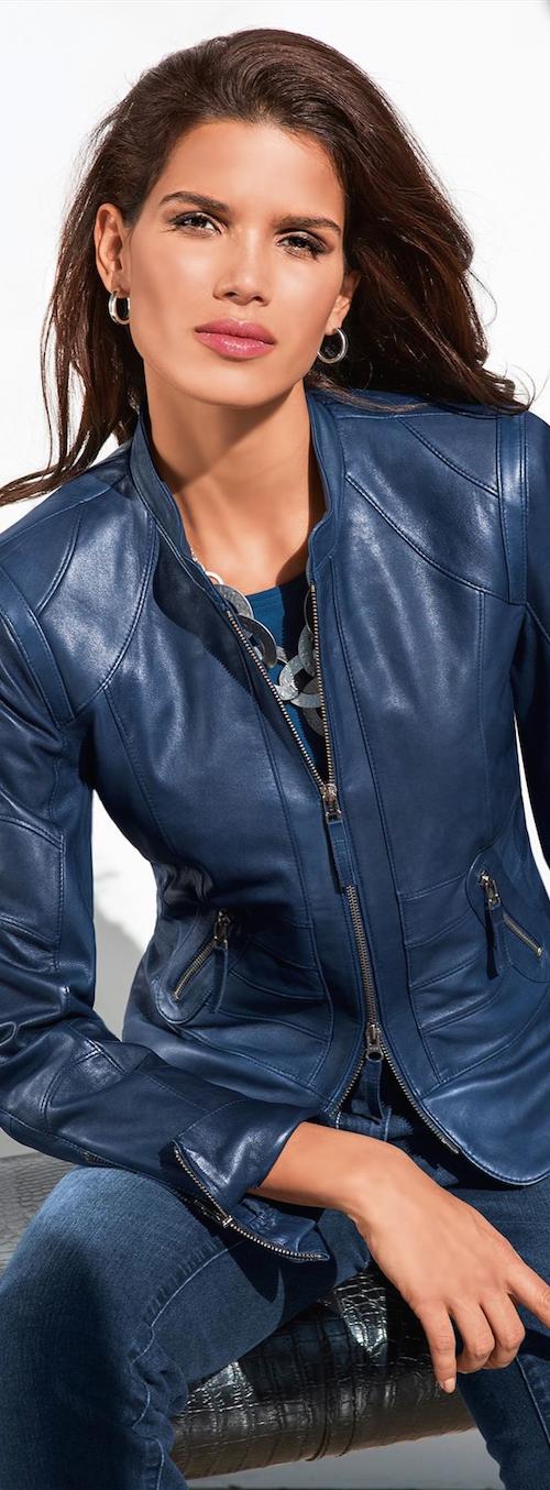 Madeleine Fall 2014 Madeleine Leather Jacket in Blue. J