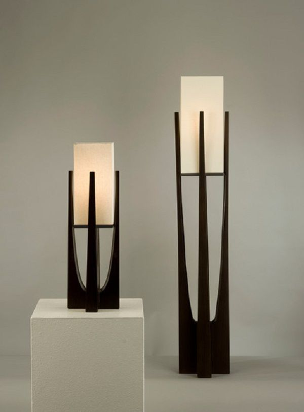 Contemporary Floor Lamp With Table Attached