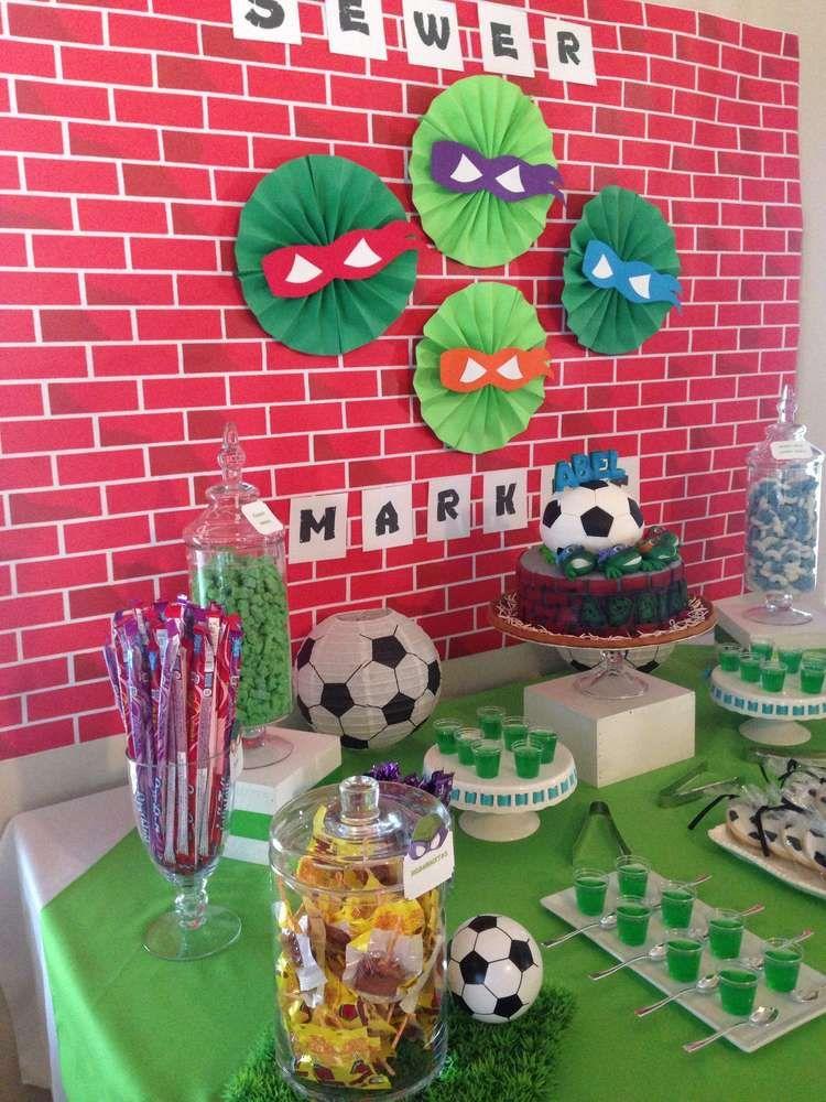 Teenage Mutant Ninja Turtles Birthday Party Ideas Ninja Turtle