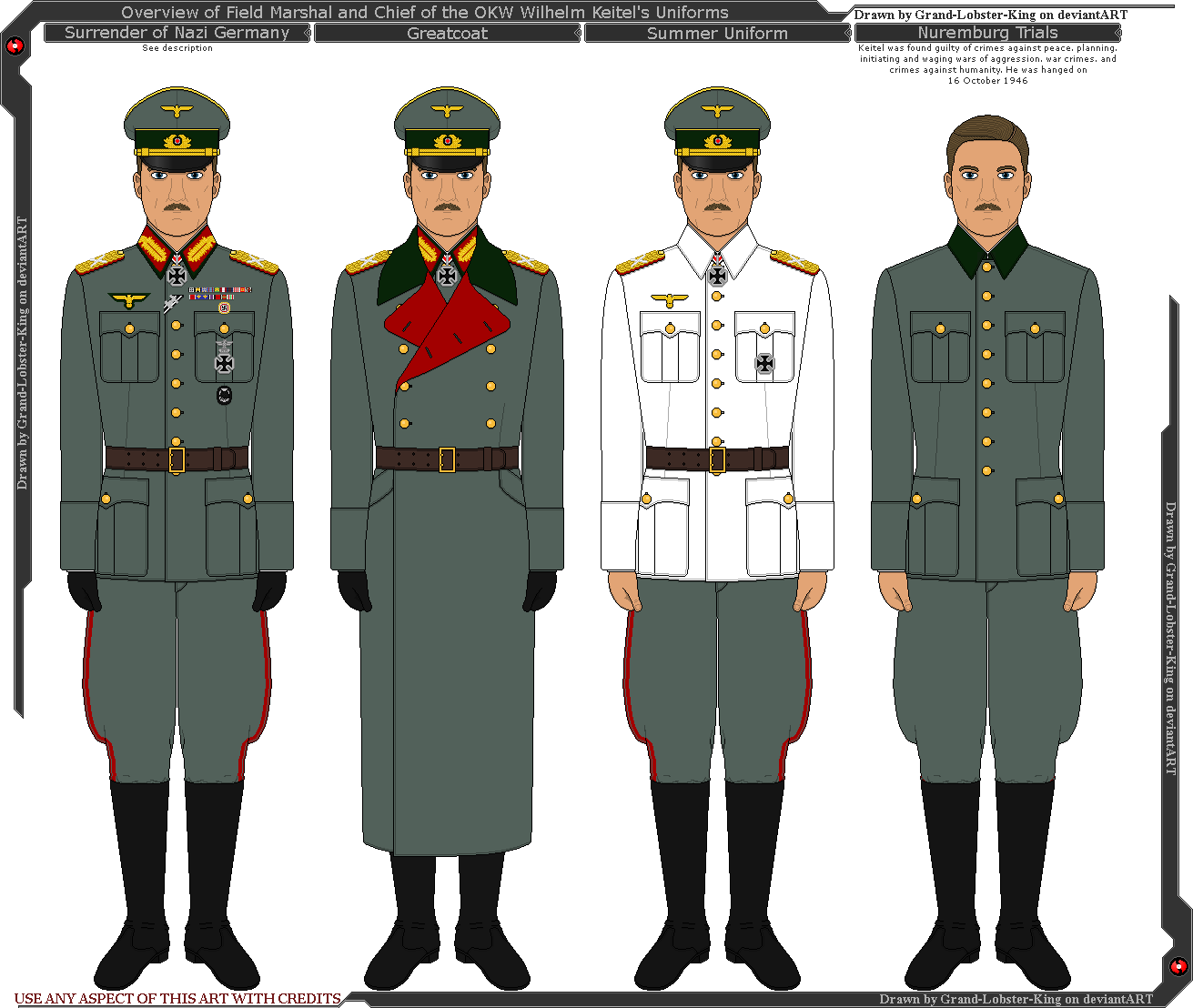 WW2 German Wehrmacht Ranks and Insignia Poster