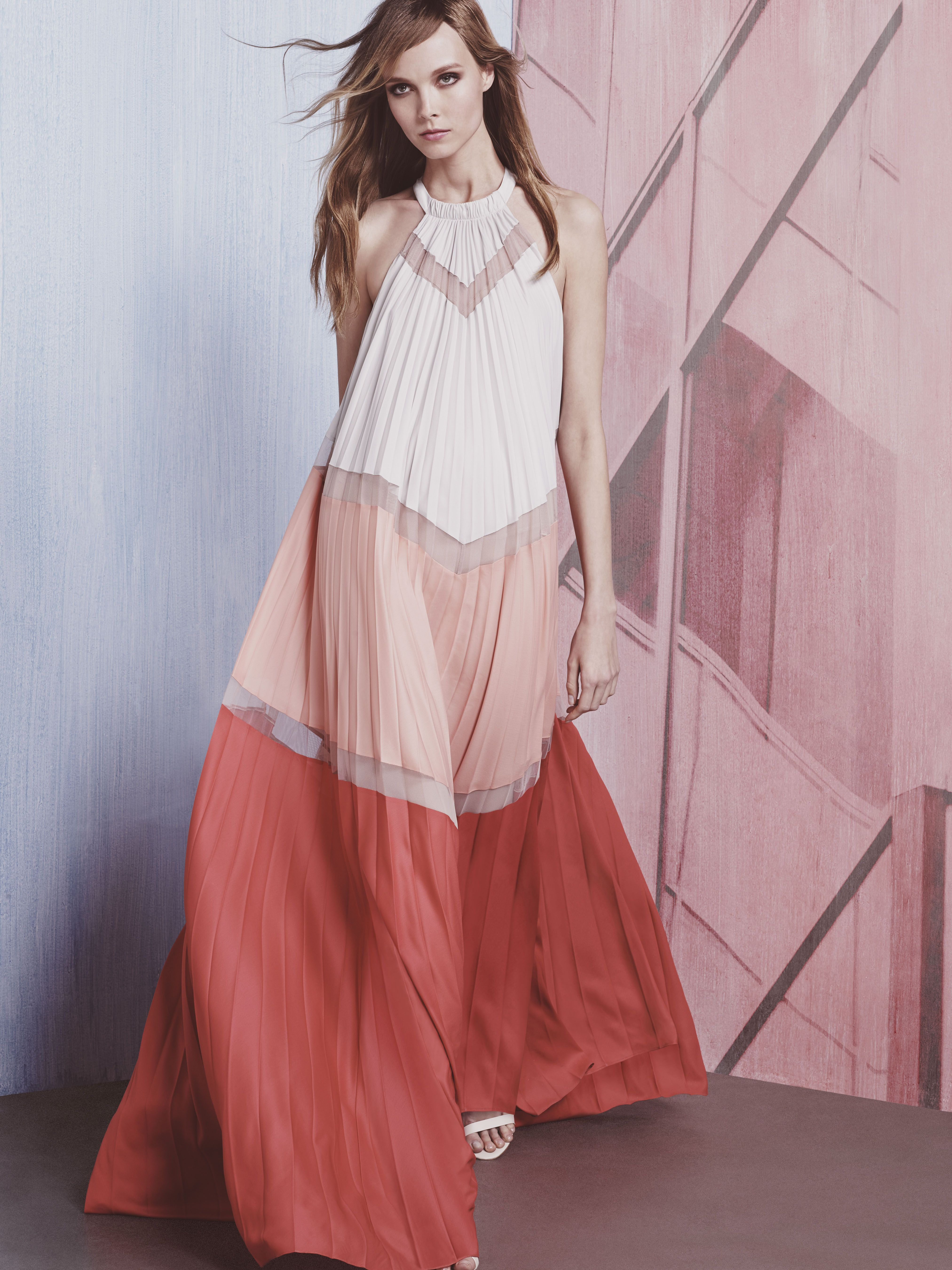The Alyson is a charming, breezy maxi with chic color-blocking and ...