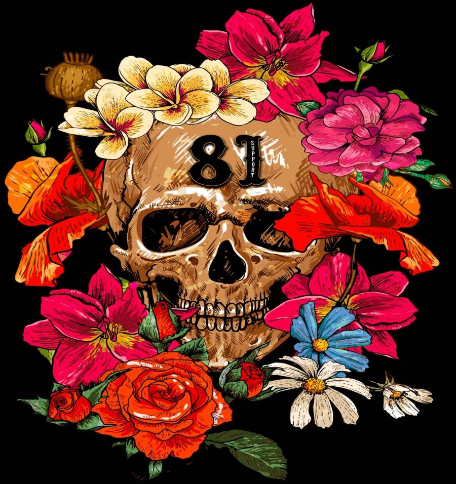 womens support81 | Hells Angels Support 81 bouquet Ladies loose fit