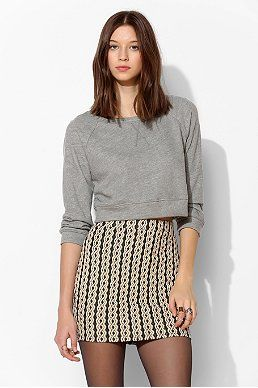 Cooperative Textured Cable Mini Skirt