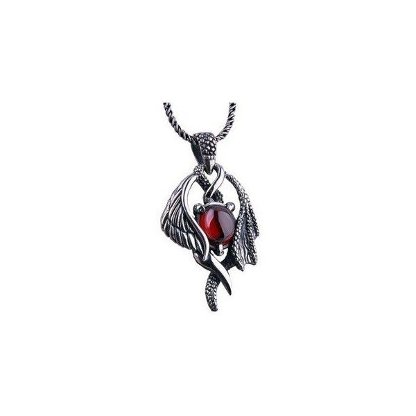 HaoShiGuang Retro Vampire Diaries Mystical Angel Wing 925 Sterling... ❤ liked on Polyvore featuring jewelry, necklaces, retro necklace, silver jewellery, sterling silver necklaces, silver necklace and sterling silver angel wing necklace