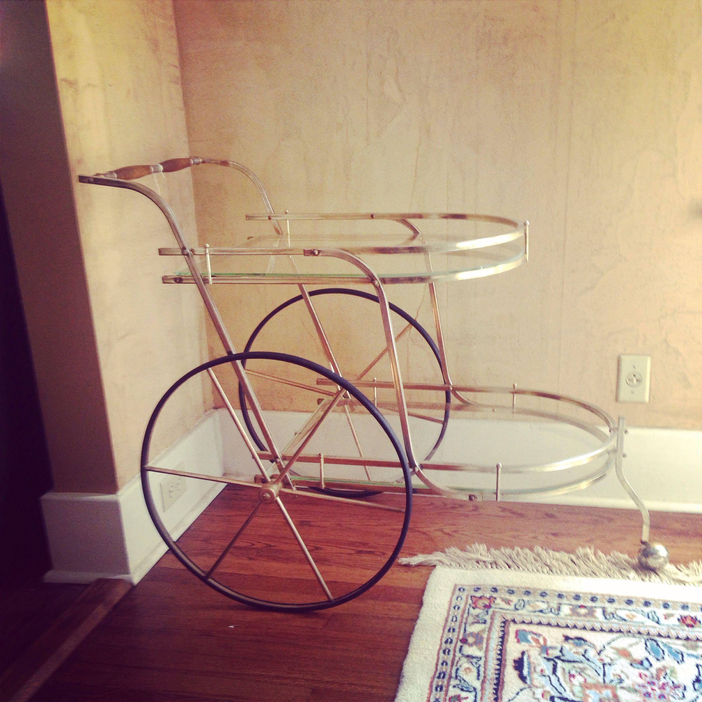 Vintage bar cart, antique finds!