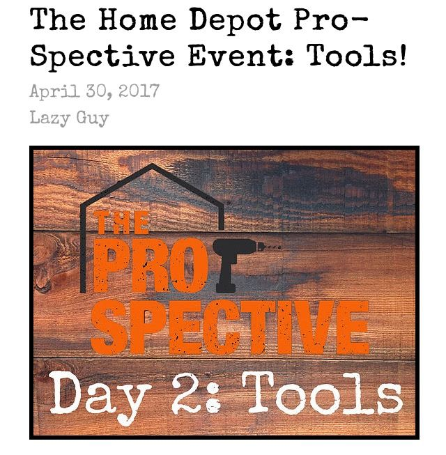 The Home Depot Pro-Spective Event: Tools