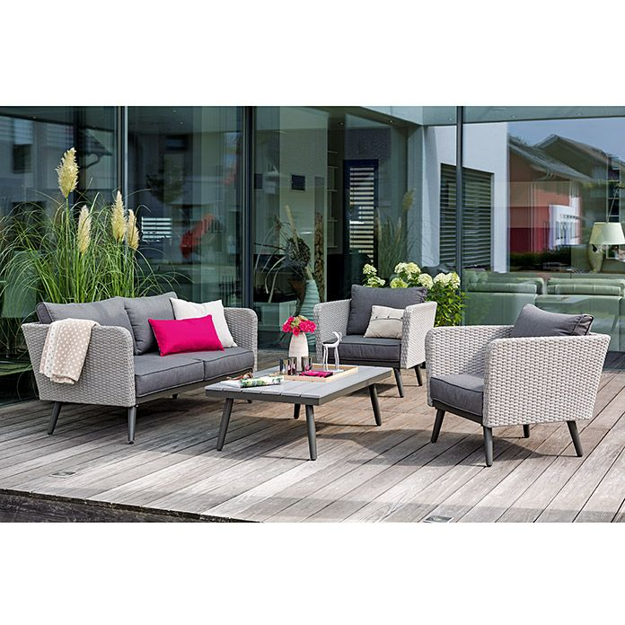 Sunfun Loungemöbel-Set Laetitia Garten \ alles was dazugehört - loungemobel garten grau