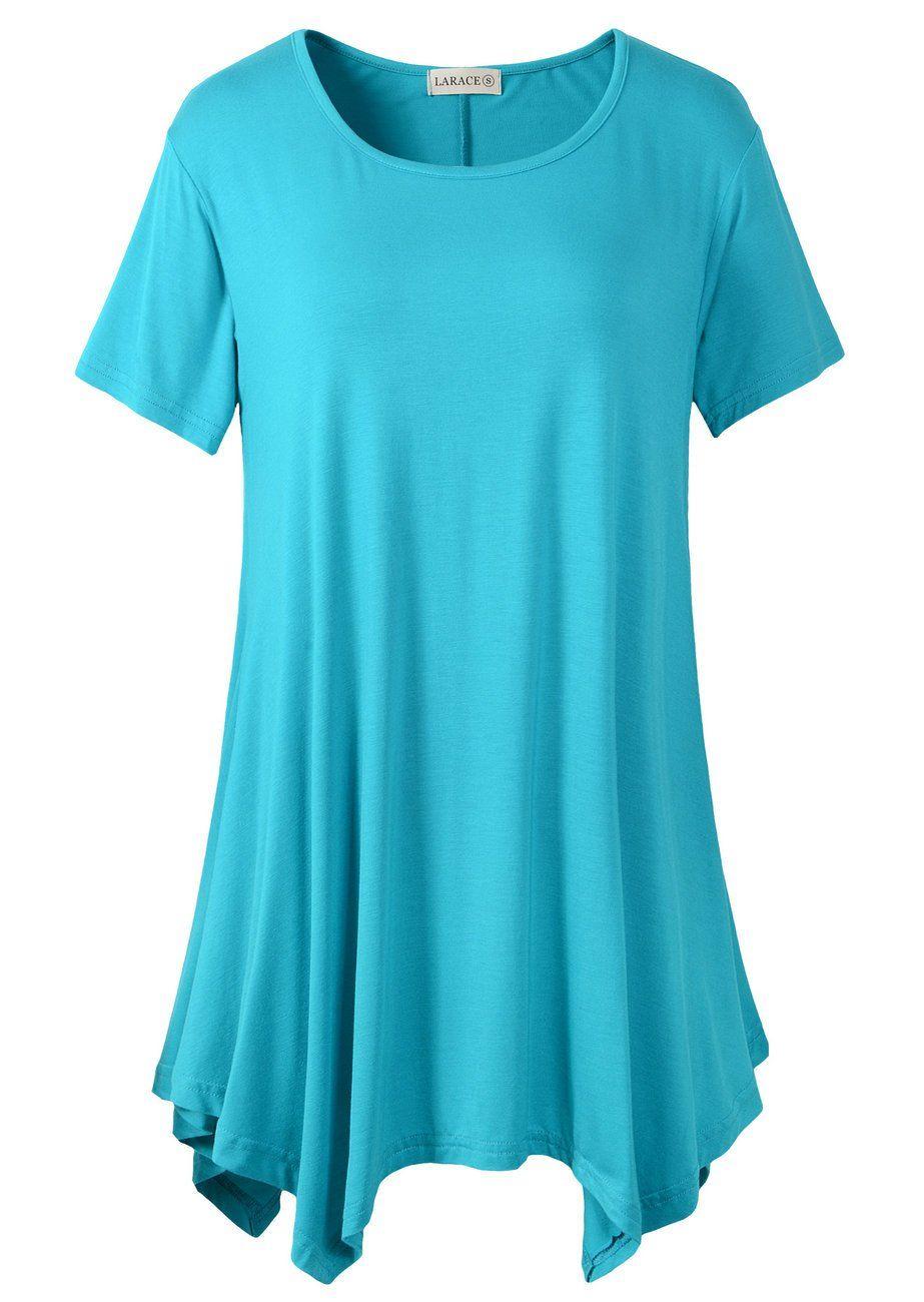 56b8ae096d1 larace womens swing tunic tops loose fit comfy flattering T-shirt tops