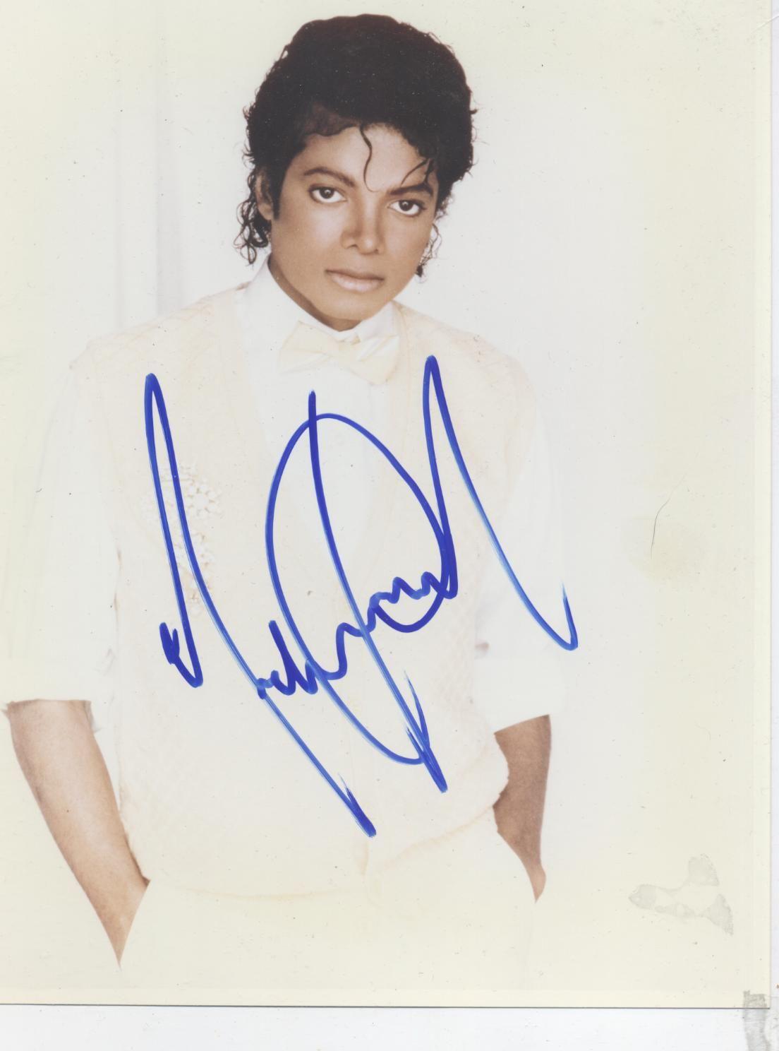 Фото автограф майкла джексона