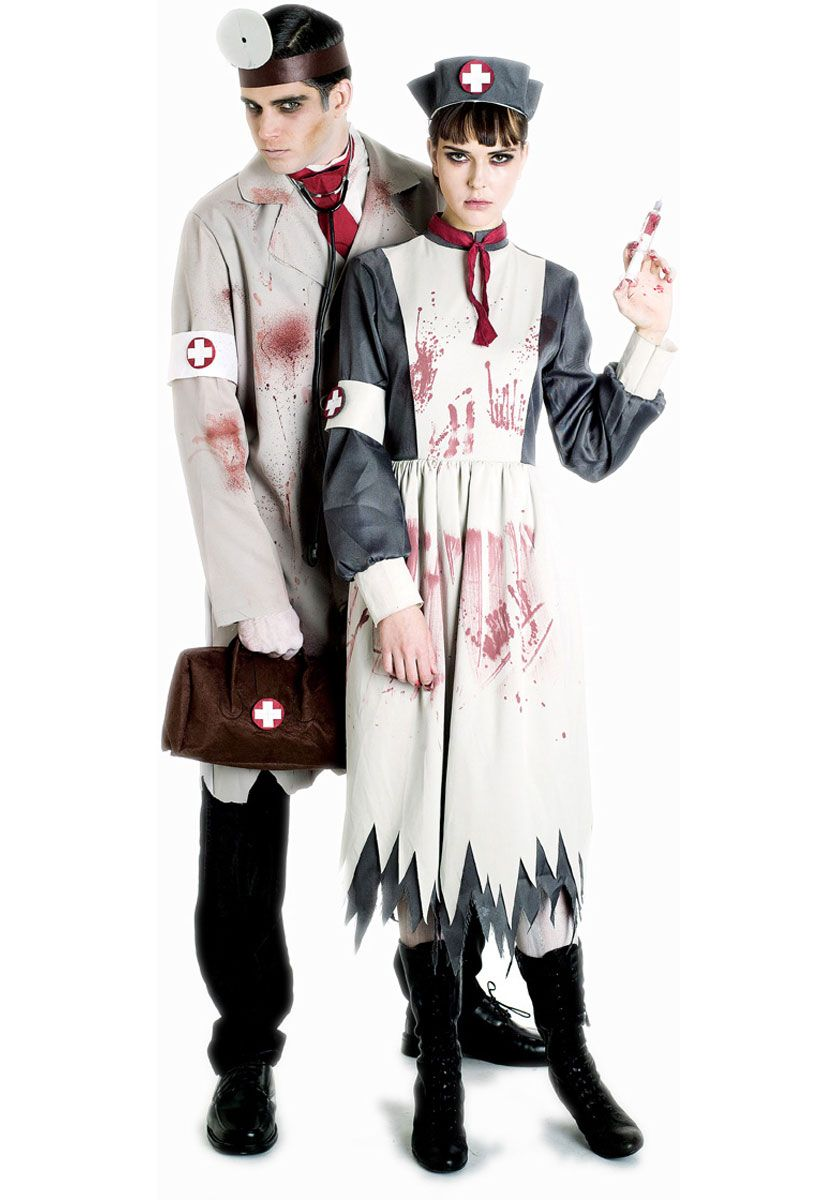 Boys Zombie Hospital Surgeon Costume Medic Kids Halloween Walking Creepy Dead