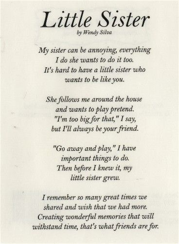 Prayer For My Sister Quotes Amusing Sweet Little Sister How I Will Forever Cherish Those Memories But . Decorating Design