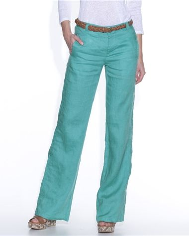 Pantalon coupe large pur lin
